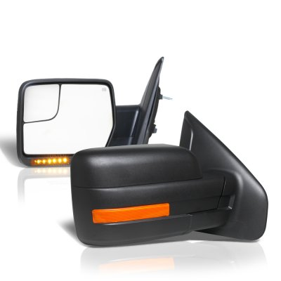 Ford F150 2004-2006 Power Heated Side Mirrors LED Signal Spotter Glass