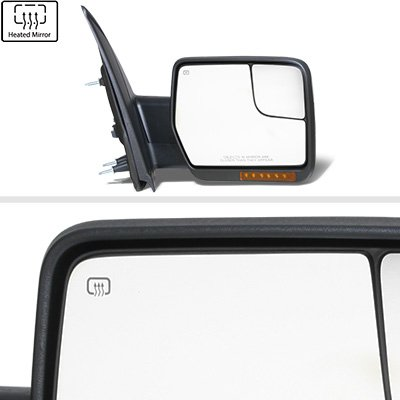 Ford F150 2007-2014 Power Heated Side Mirrors LED Signal Spotter Glass