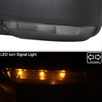Dodge Ram 1500 2013-2018 Power Folding Side Mirrors Smoked LED Signal