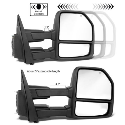 Ford F150 2015-2020 Towing Mirrors Power Heated Smoked LED Signal Puddle Lights 22 Pins
