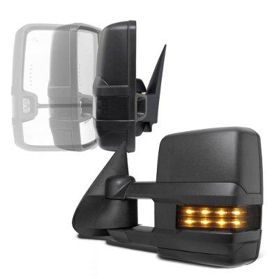 Chevy Silverado 2500HD 2003-2006 Power Folding Towing Mirrors Smoked LED Lights