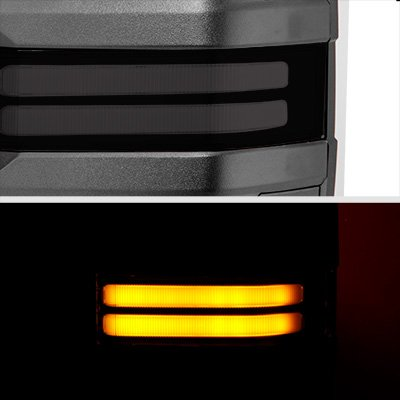 Chevy Silverado 2003-2006 Power Folding Towing Mirrors Smoked Tube LED Lights