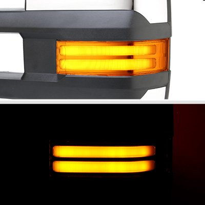 Chevy Suburban 2003-2006 Chrome Power Folding Towing Mirrors Tube LED Lights