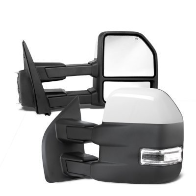 Ford F150 2004-2008 New White Towing Mirrors Power Heated LED Signal Puddle Lights