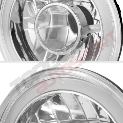 Jeep Wrangler 2007-2017 Projector Headlights Conversion Red Halo Tube