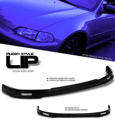 Honda Civic Sedan 1992-1995 Mugen Style Front Lip