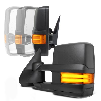 Chevy Silverado 1999-2002 Power Folding Towing Mirrors LED DRL