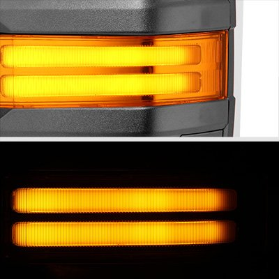 Chevy Silverado 2500HD 2001-2002 Power Folding Towing Mirrors LED DRL