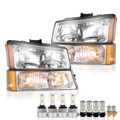 Chevy Silverado 3500 2003-2006 Headlights LED Bulbs Complete Kit