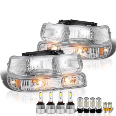 Chevy Silverado 1999-2002 Headlights LED Bulbs Complete Kit
