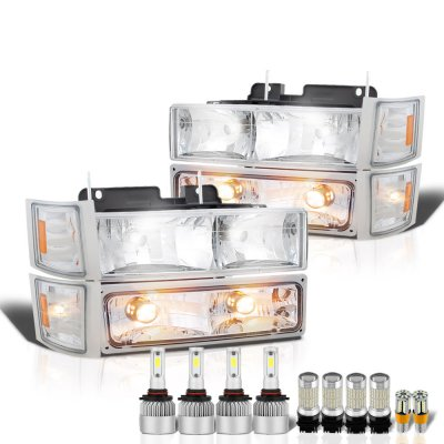Chevy Silverado 1994-1998 Headlights LED Bulbs Complete Kit