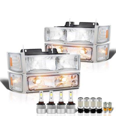 GMC Sierra 2500 1994-1998 Headlights LED Bulbs Complete Kit