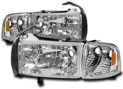 Dodge Ram 1994-2001 Clear Headlights Corner Lights