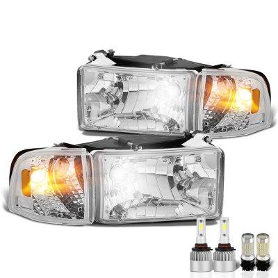 Dodge Ram 2500 1994-2002 LED Headlight Bulbs Set Complete Kit