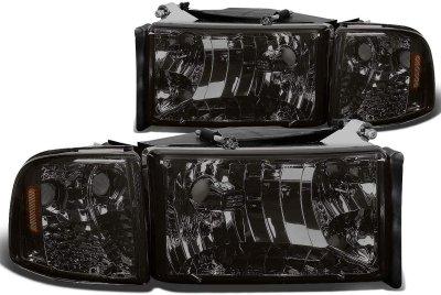 Dodge Ram 2500 1994-2002 Smoked Headlights Corner Lights