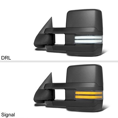 Chevy Silverado 2003-2006 Tow Mirrors Switchback LED DRL Sequential Signal