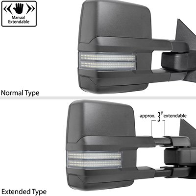Chevy Silverado 1988-1998 Tow Mirrors Switchback LED DRL Sequential Signal