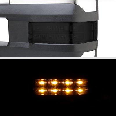 Chevy Silverado 2500HD 2001-2002 Chrome Power Folding Towing Mirrors Smoked LED Lights
