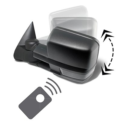 Chevy Silverado 2500HD 2003-2006 Power Folding Tow Mirrors Smoked Switchback LED DRL Sequential Signal
