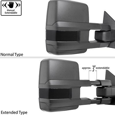 Chevy Silverado 2003-2006 Power Folding Tow Mirrors Smoked Switchback LED DRL Sequential Signal