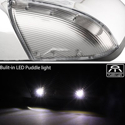 Dodge Ram 1500 2009-2018 Chrome Power Heated Side Mirrors LED Signal Lights