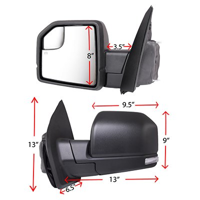 Ford F150 2015-2020 Side Mirrors Power Heated LED Signal Puddle Lights