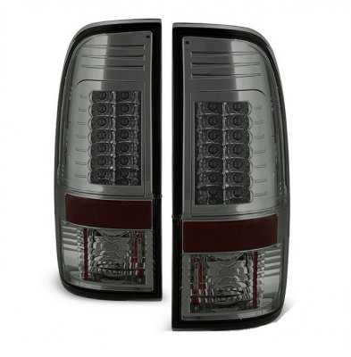 Ford F250 Super Duty 2008-2014 Smoked LED Tail Lights