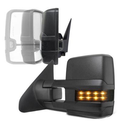 Toyota Tundra 2007-2020 Power Folding Tow Mirrors Smoked LED Lights