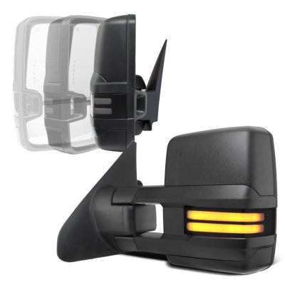 Toyota Tundra 2007-2020 Power Folding Tow Mirrors Smoked LED DRL