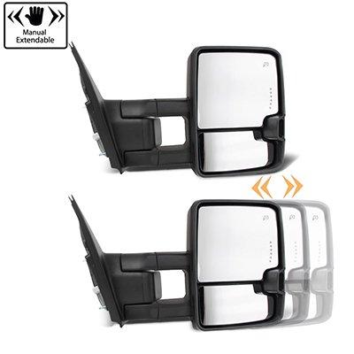 Toyota Tundra 2007-2021 Power Folding Tow Mirrors Smoked LED DRL