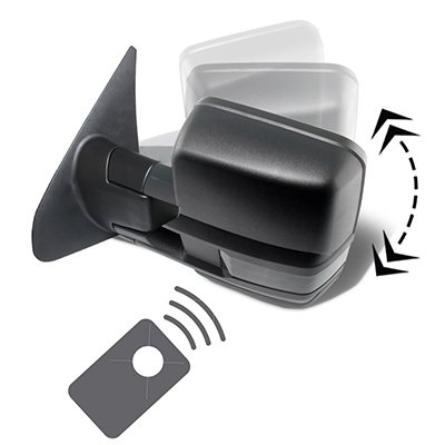 Toyota Tundra 2007-2020 Power Folding Tow Mirrors Smoked Switchback LED DRL Sequential Signal