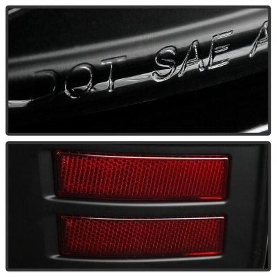 Dodge Ram 2009-2018 Black Tube LED Tail Lights