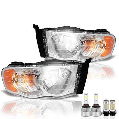 Dodge Ram 2002-2005 LED Headlight Bulbs Set Complete Kit