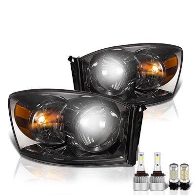 Dodge Ram 2006-2008 Smoked LED Headlight Bulbs Set Complete Kit