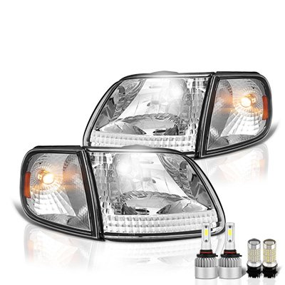 Ford F150 1997-2003 LED Headlight Bulbs Set Complete Kit