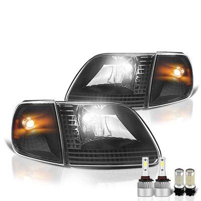 Ford F150 1997-2003 Black LED Headlight Bulbs Set Complete Kit