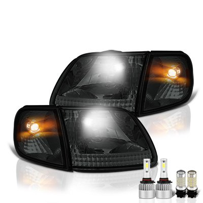 Ford F150 1997-2003 Smoked LED Headlight Bulbs Set Complete Kit