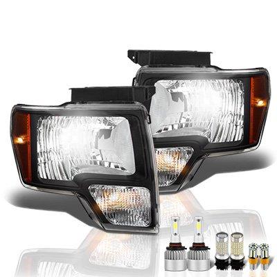 Ford F150 2009-2014 Black LED Headlight Bulbs Set Complete Kit