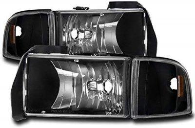 Dodge Ram 1994-2001 Black Headlights Corner Lights