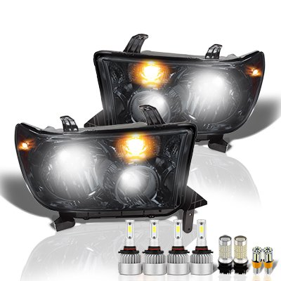 Toyota Tundra 2007-2013 Smoked LED Headlight Bulbs Set Complete Kit