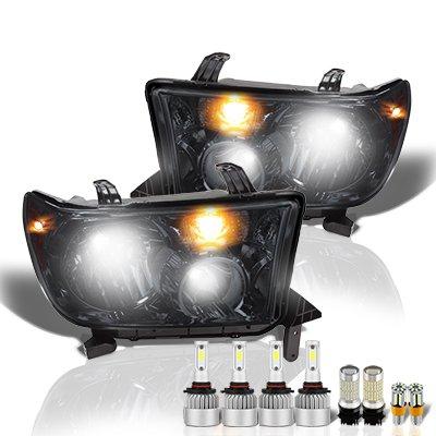 Toyota Tundra 2007-2013 Smoked LED Headlight Bulbs Set Complete Kit
