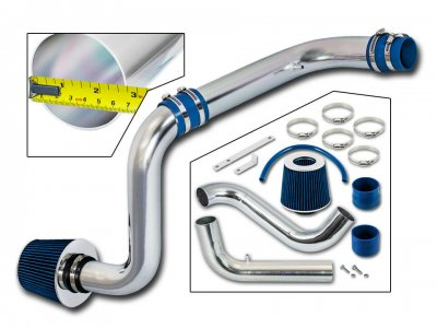 Acura Integra 1994-2001 Polished Cold Air Intake System with Blue Air Filter