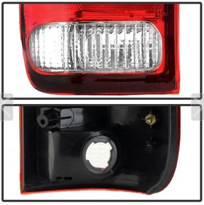 Ford F150 1997-2003 Red and Clear Replacement Tail Lights