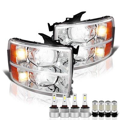 Chevy Silverado 2500HD 2007-2014 Headlights LED Bulbs Complete Kit