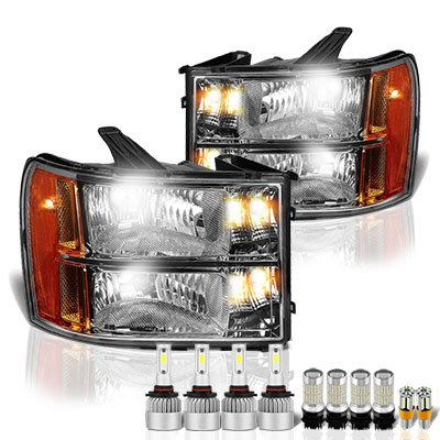 GMC Sierra 2007-2013 Headlights LED Bulbs Complete Kit