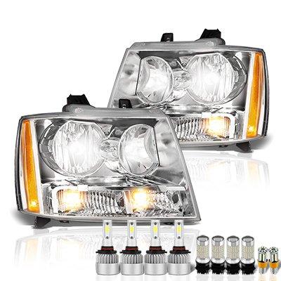 Chevy Suburban 2007-2014 Headlights LED Bulbs Complete Kit