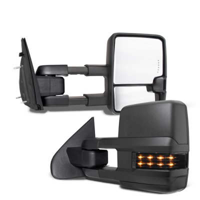 Dodge Ram 1500 2009-2018 Tow Mirrors Smoked LED Lights Power Heated