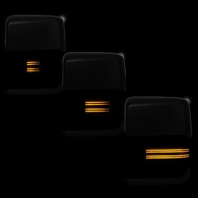Ford F550 Super Duty 2008-2016 Tow Mirrors Smoked Switchback LED DRL Sequential Signal