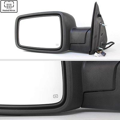 Dodge Ram 1500 2013-2018 Chrome Power Folding Side Mirrors Smoked LED Signal