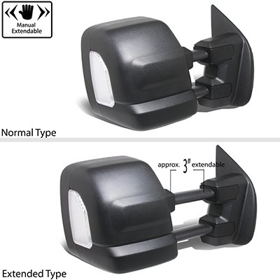 Nissan Titan 2016-2020 Towing Mirrors Power Heated LED ...